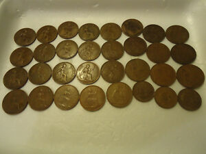 1916 ENGLISH ONE PENNY COIN    >> YOU ARE BIDDING ON THE LISTED COIN ONLY <<