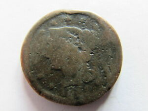 1851 BRAIDED HAIR LARGE CENT PHILADELPHIA EARLY AMERICAN COPPER COIN PENNY 1C