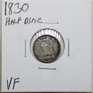 1830 H10C CAPPED BUST HALF DIME IN VF CONDITION 03099