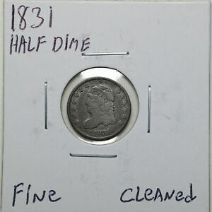 1831 H10C CAPPED BUST HALF DIME WITH FINE DETAIL CLEANED 03100