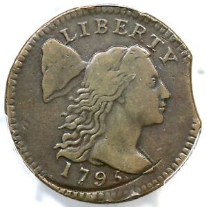 1795 PCGS VF DETAILS CLIPPED LIBERTY CAP LARGE CENT COIN 1C