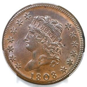 Click now to see the BUY IT NOW Price! 1808 S 277 R 2 PCGS MS 66 BN CLASSIC HEAD LARGE CENT COIN 1C