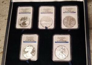 2011 SILVER EAGLE 25TH ANNIVERSARY SET EARLY RELEASES   NGC PF 70 & MS 70