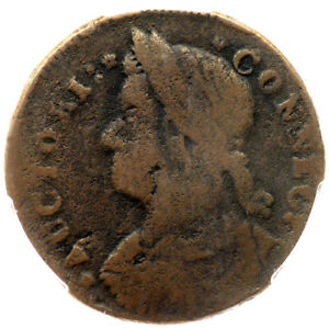 1787 M 31.1 OBVERSE BROCKAGE R 7  PCGS VG 10 CONNECTICUT COLONIAL COPPER COIN