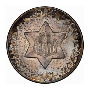 Click now to see the BUY IT NOW Price! 1851 O 3CS THREE CENT SILVER PCGS MS66  CAC