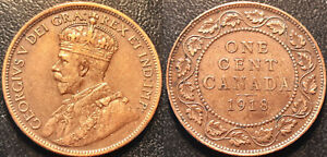 CANADA   GEORGE V   1 CENT 1918 QUALITY  KM 21