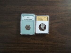 2009 S KENNEDY PR70CAM AND1955 D NICKEL MS67  TWO BEAUTIES
