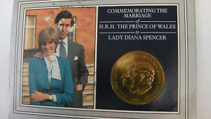 COMMEMORATING THE MARRIAGE HRH THE PRINCE OF WALES LADY DIANA SPENCER