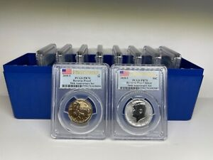 Click now to see the BUY IT NOW Price! 2018 S SILVER PROOF SET 10 COINS REVERSE PCGS PR70DCAM FSIRST STRIKE FLAG   30