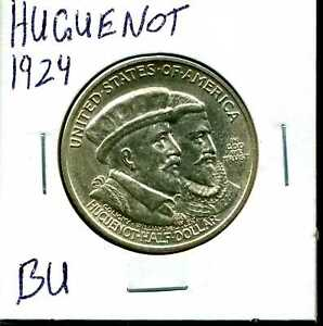 1924 50C HUGUENOT COMMEMORATIVE HALF DOLLAR IN BU CONDITION 03905