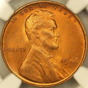 Click now to see the BUY IT NOW Price! 1946 S LINCOLN WHEAT CENTNGC MS66RD BU UNCIRCULATED RED