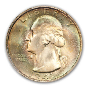 Click now to see the BUY IT NOW Price! 1947 S 25C WASHINGTON QUARTER PCGS MS68