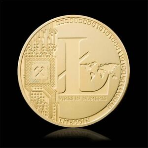 COLLECTIBLE CREATIVE LITECOIN COIN GIFT ART COMMEMORATIVE GOLD PLATED