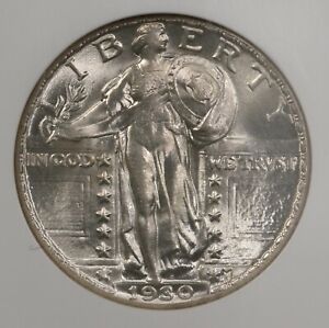 1930 STANDING LIBERTY 25C NGC CERTIFIED MS64 UNITED STATES MINTED SILVER QUARTER