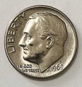 1969 D ROOSEVELT DIME 10 CENTS UNCIRCULATED COIN   2626
