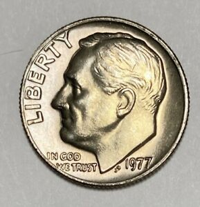 1977 ROOSEVELT DIME 10 CENTS CIRCULATED COIN   3133