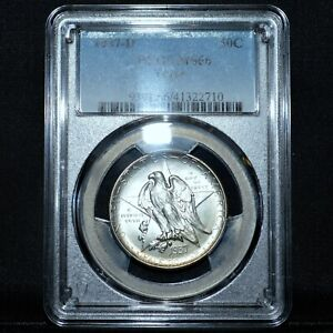 1937 D TEXAS COMMEMORATIVE 50C  PCGS MS 66  SILVER UNCIRCULATED  TRUSTED