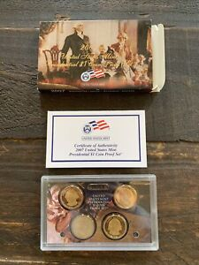 2007 S UNITED STATES MINT PRESIDENTIAL $1 COIN PROOF SET W/BOX & COA