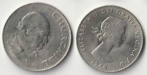 1965 GREAT BRITAIN 1 CROWN WINSTON CHURCHILL COIN