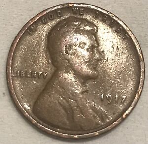 1917 P PHILADELPHIA  COPPER LINCOLN WHEAT  PENNY ONE CENT FAST SHIPPING