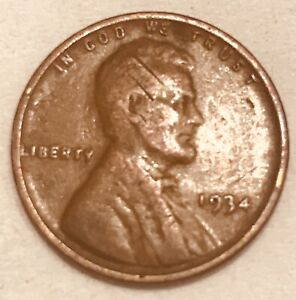1934 P PHILADELPHIA  COPPER LINCOLN WHEAT  PENNY ONE CENT FAST SHIPPING