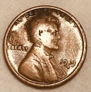 1919 D DENVER COPPER LINCOLN WHEAT  PENNY ONE CENT FAST SHIPPING