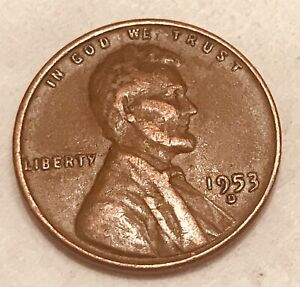 1953 D DENVER COPPER LINCOLN WHEAT  PENNY ONE CENT FAST SHIPPING