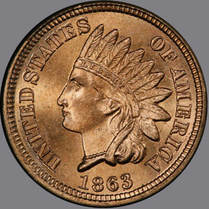Click now to see the BUY IT NOW Price! 1863 1C INDIAN CENT   TYPE 2 COPPER NICKEL PCGS MS67 3281 1