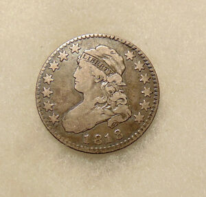1818 CAPPED BUST QUARTER   BETTER DATE B 8   NICE LOOKING COIN