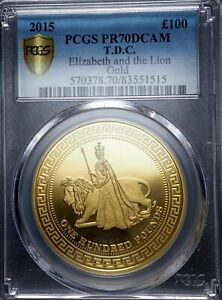 Click now to see the BUY IT NOW Price! 2015 REGENT AND THE LION UNA AND THE LION TDC PROOF COIN PCGS PR70