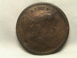 1794 LIBERTY CAP HALF CENT C 8 R5