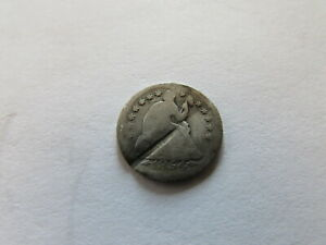 1854 O ARROWS SEATED LIBERTY HALF DIME NEW ORLEANS MINT SILVER 5 CENTS COIN