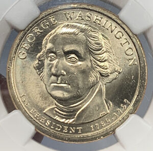 2007 GEORGE WASHINGTON DOLLAR MINT ERROR NGC MS66   MISSING EDGE LETTERING