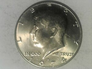 1974 D KENNEDY HALF DOLLAR WITH FAINT TO NO FG ERROR