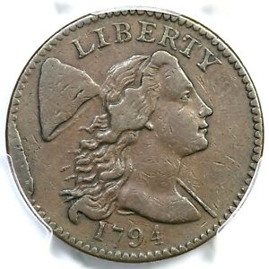 1794 S 62 R 4  PCGS VF 30 LIBERTY CAP LARGE CENT COIN 1C
