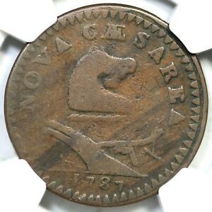 Click now to see the BUY IT NOW Price! 1787 37 X R 6  NGC VG 8 GOITER NEW JERSEY COLONIAL COPPER COIN