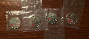 CANADA 2012 WAR 1812 SET 4 COMMEMORATIVE 25 CENT COINS SEPARATELY SEALED
