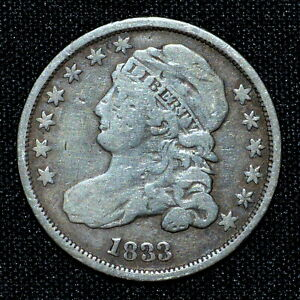 1833 CAPPED BUST DIME  VF FINE DETAILS  10C  NOW H505 TRUSTED
