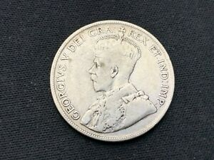 CANADA 1917   50 CENTS COIN XF      .925 SILVER   C017