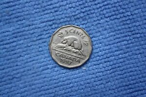 CANADA FIVE CENT COIN 1957 2