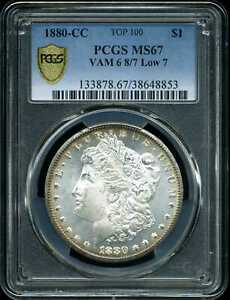 Click now to see the BUY IT NOW Price! 1880 CC $1 MORGAN SILVER DOLLAR MS67 PCGS 38648853 VAM 6 8/7 LOW 7