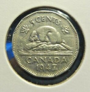CANADA 1947 ML   5 CENTS