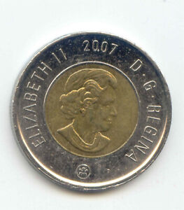 CANADA 2007 TWO DOLLAR CANADIAN TOONIE TWOONIE $2 DOLLARS EXACT COIN SHOWN