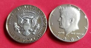 2 1981 S HALF DOLLAR COINS COLLECTION MINT NEAR PROOF UN CIRCULATED