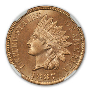 Click now to see the BUY IT NOW Price! 1887 1C INDIAN CENT   TYPE 3 BRONZE NGC MS67RD