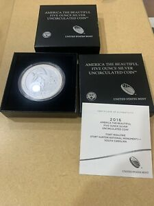 2016 FORT MOULTRIE NATIONAL MONUMENT AMERICA THE BEAUTIFUL 5 OZ SILVER