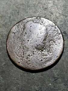 1700'S HALF PENNY USED IN EARLY AMERICA COLONIAL COIN MM4