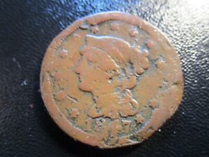1847 BRAIDED HAIR LARGE CENT WE COMBINE SHIPPING