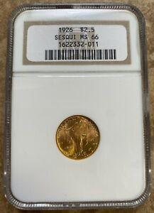 1926 GOLD $2.5 COMMEMORATIVE. NGC MS66 SESQUICENTENNIAL. STUNNING