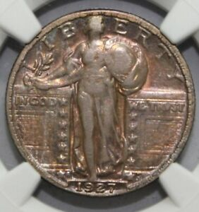 1927   S  25C STANDING LIBERTY QUARTER NGC CERTIFIED VF DETAILS CLEANED